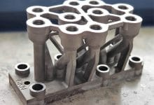 Photo of GKN shows up to 80% weight saving on 3D printed hydraulic block subassemblies