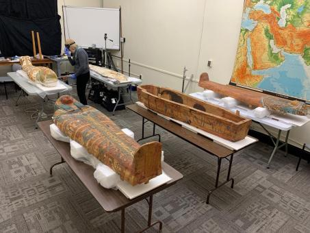 Photo of Harvard Semitic Museum 3D scans Ancient Egyptian sarcophagi