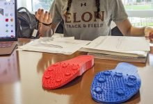 Photo of Student designs 3D printed pole vaulting shoes for women