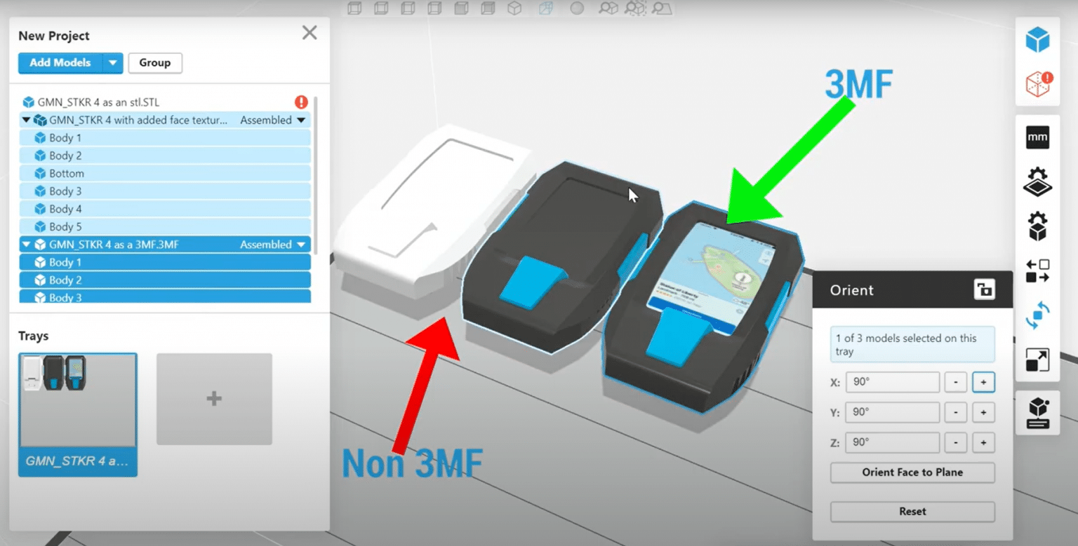 GrabCAD print supports 3MF