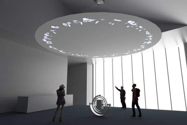 Photo of MIT Media Lab and artist Thom Kubli explore floating 3D printed sculptures