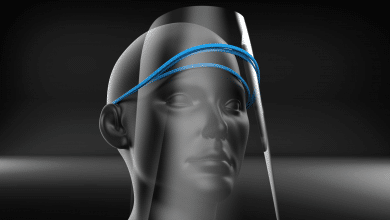 Photo of Open source Face Shield X can be 3D printed in under 60 seconds