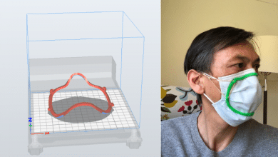 Photo of 3D scanning app generates customized 3D printed mask fitter