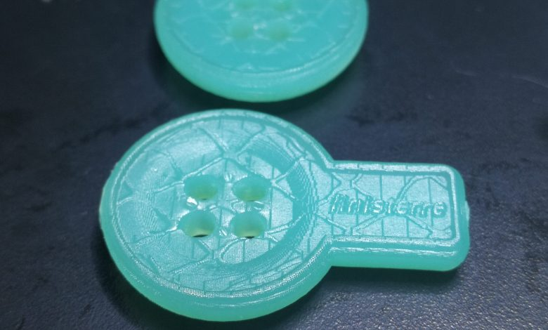 Photo of Cornwall-based student develops sustainable buttons using 3D printing
