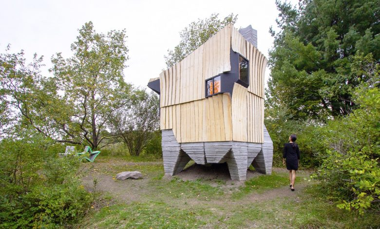 Photo of Ashen Cabin: an off-grid home made from 3D printed concrete and infested wood