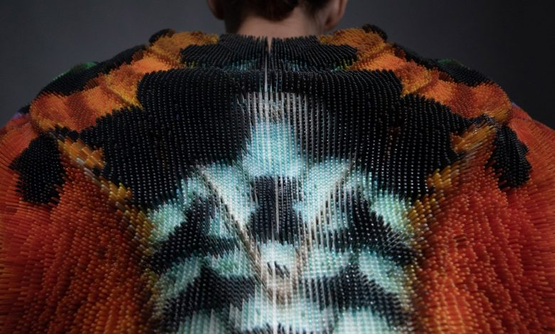 Photo of 3D printed Setae Jacket by Julia Koerner embodies the butterfly