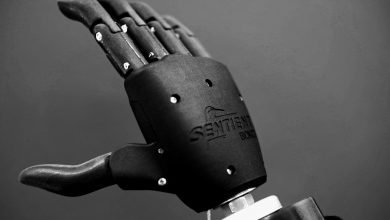 Photo of GoProto ANZ and Sentient Bionics 3D print prosthetic hand