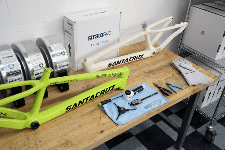 Santa Cruz Bicycles 3D printing