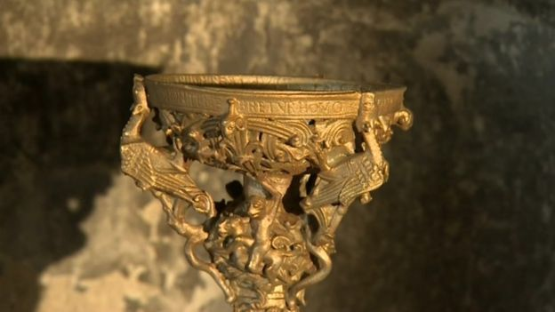 Photo of 3D printing used to recreate 12th century candlestick