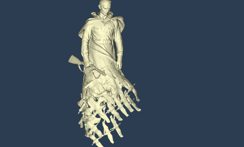 3D sculpture scanning's result