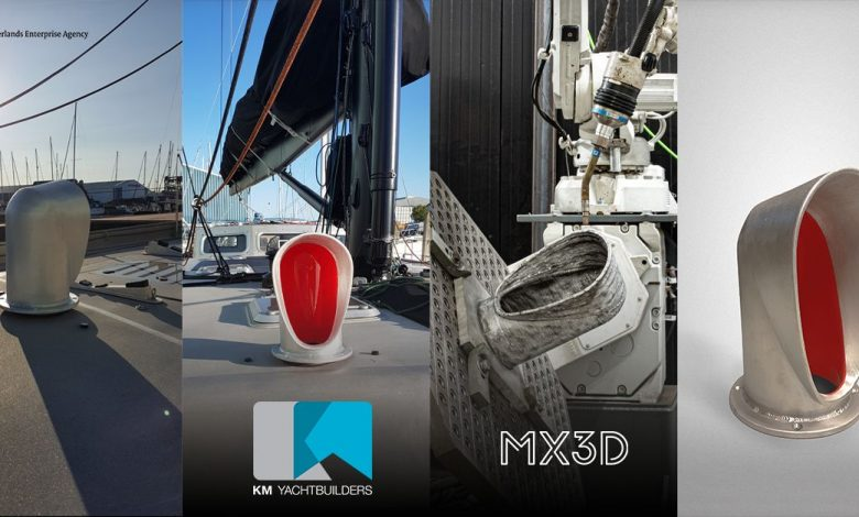 Photo of Maritime AM takes off as AML3D ships 3D printed propeller and MX3D shows off cowl vent
