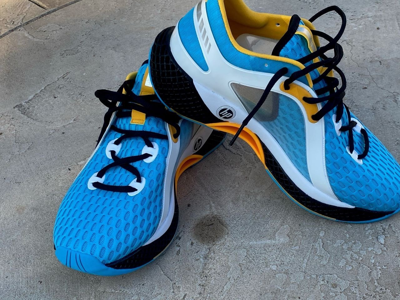 HP-branded running shoes
