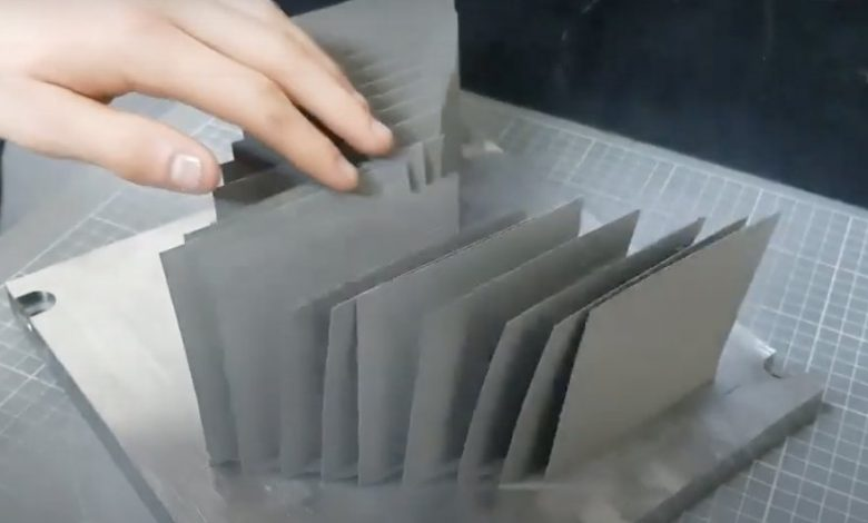 Photo of 70 micron flexible tungsten 3D printed by TWI takes thin walls to new level
