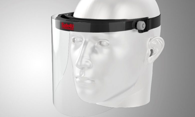 Photo of CRP Technologies 3D prints visor frame for protective face shields