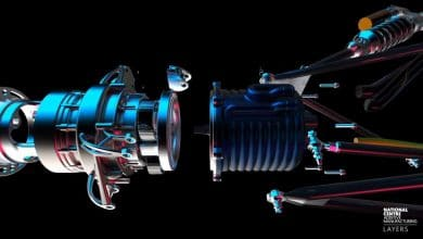 The parts fitted together with a part made using electron beam melting