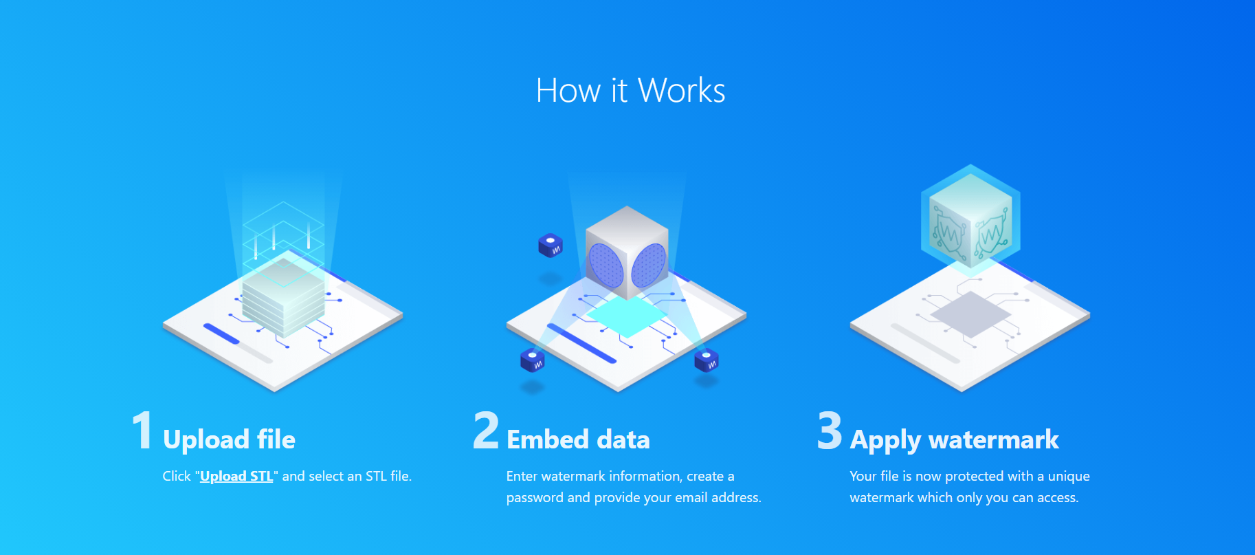 Overview of Watermark3D's privacy protection process