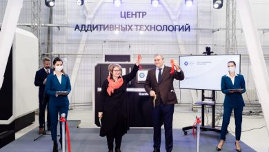 Natalya Nikipelova, President of JSC TVEL, and Mikhail Turundaev, CEO of RusAT, cut the red ribbon at the opening ceremony of Rosatom's ATC.