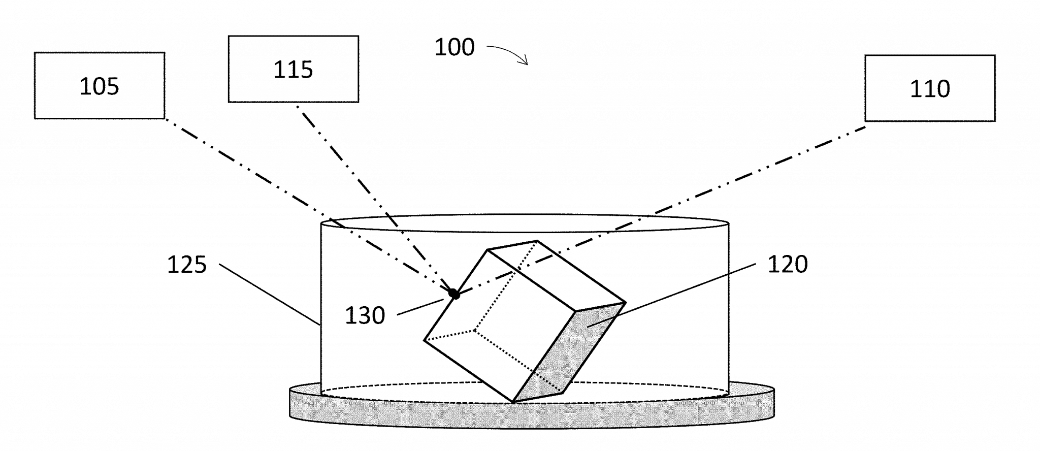A schematic filed with Mr. Clark's volumetric printing patent