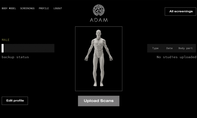 A.D.A.M.'s graphic interface