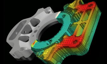 Graphic of Autodesk's Fusion 360 suite simulation software