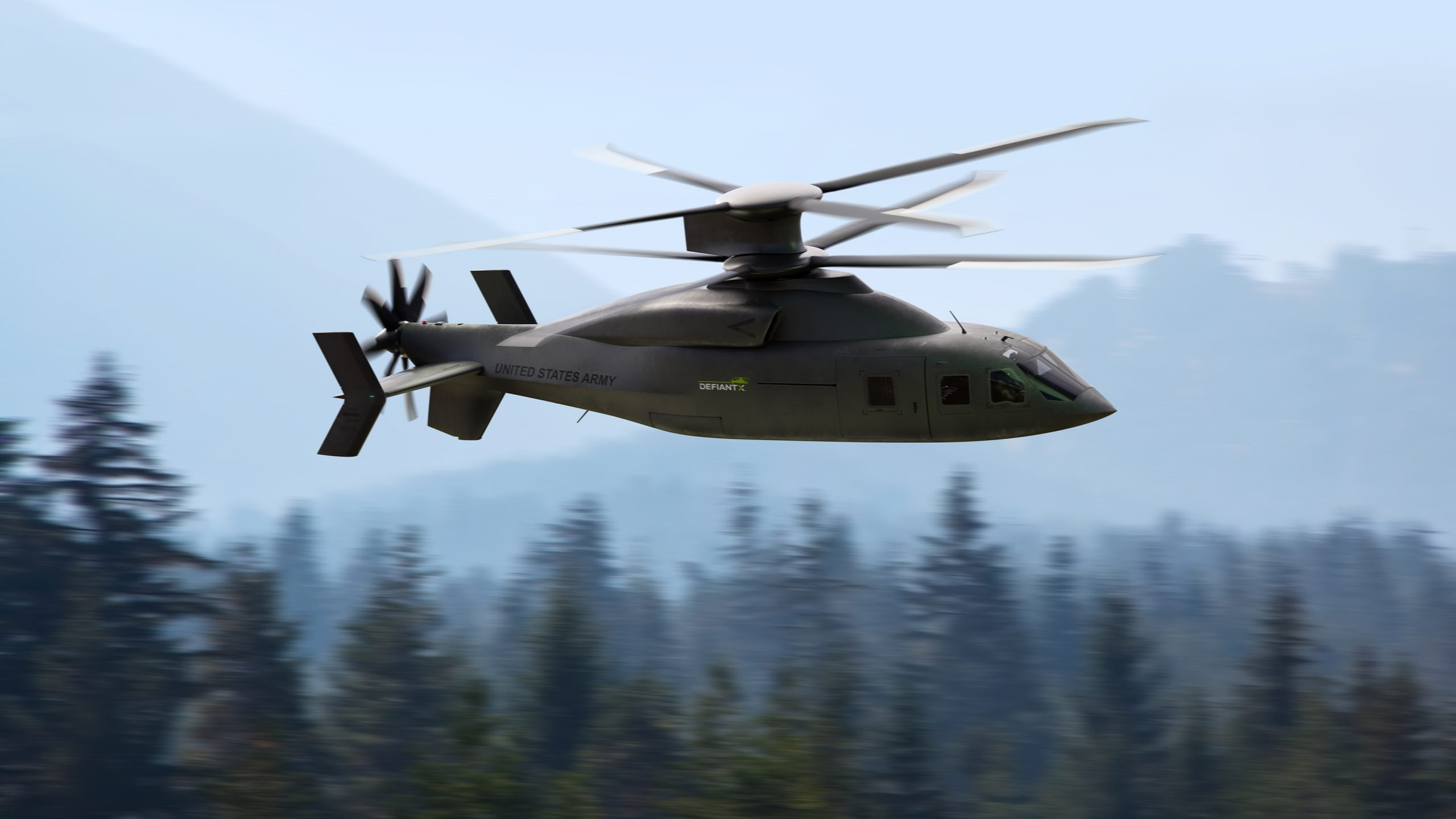 Sikorsky, Lockheed Martin and Boeing are presenting the DEFIANT X