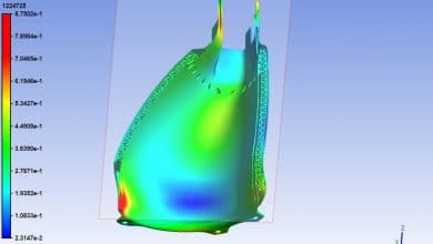 Homogenized lattice structure from Ansys Material Designer captures desired stress redistribution.