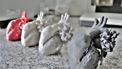 Sinterit support 3D printed hearts