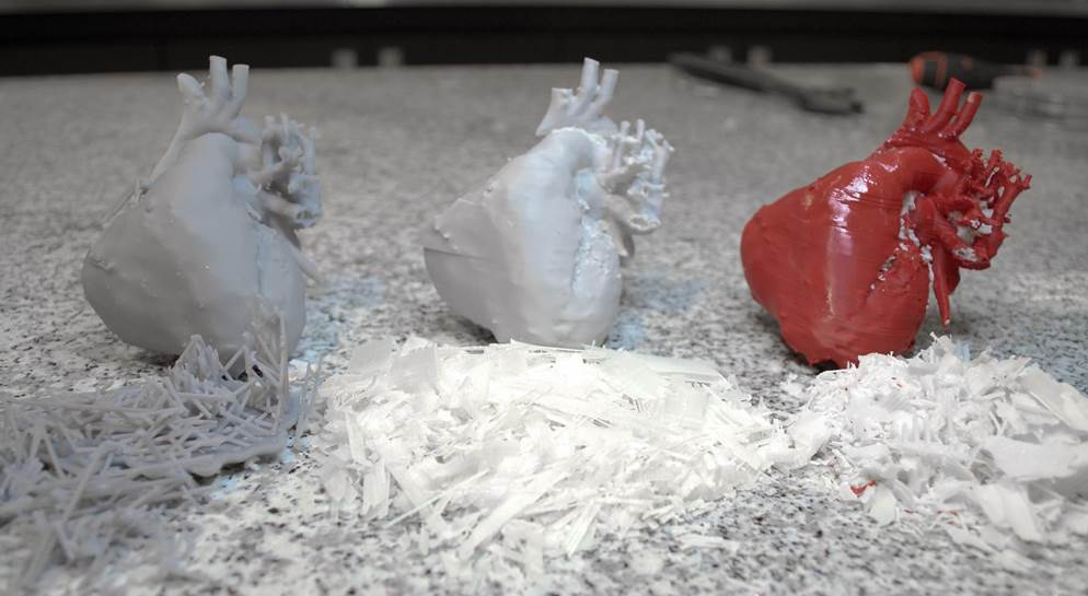 Sinterit 3D printed hearts