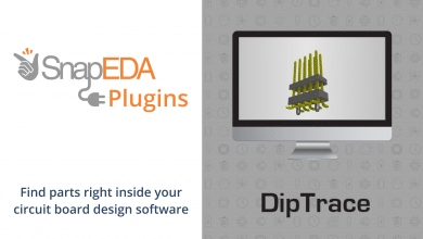 SnapEDA and DipTrace partner to deliver DipTrace's content on the SnapEDA search engine.