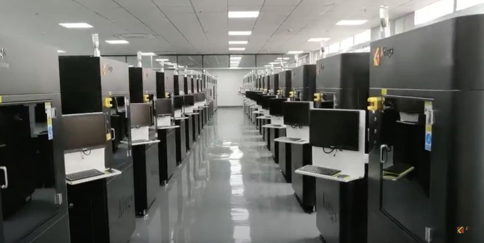 A look inside Kings 3D new 70-systems SLA 3D printing factory