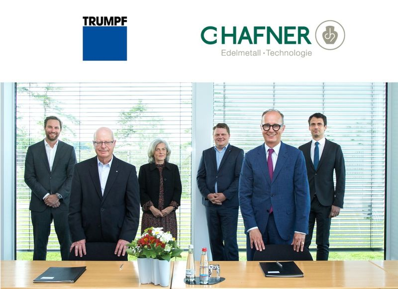 TRUMPF officially partners with C. Hafner to advance precious metals AM