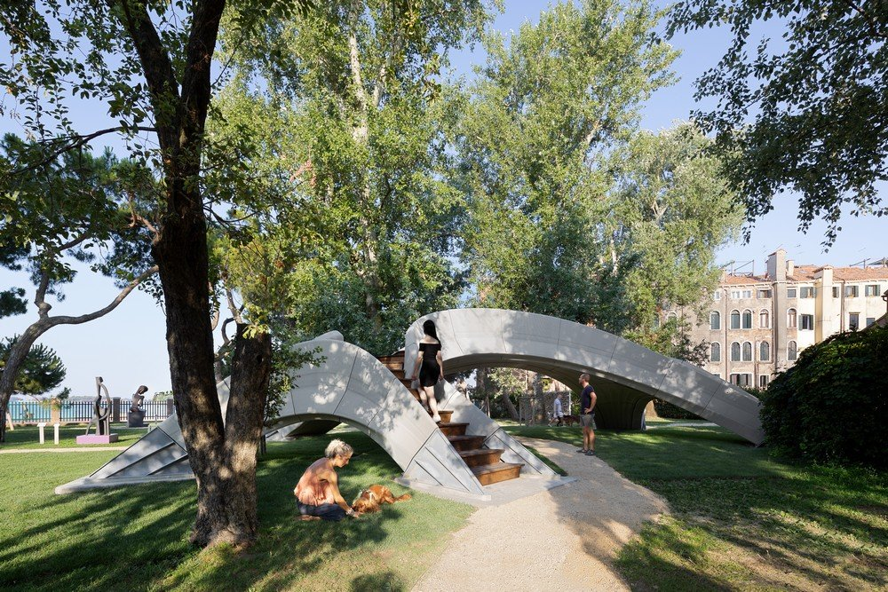 The bridge is now open to the public in the Marinaressa Gardens during the Venice Architecture Biennale until November 2021.