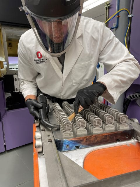 AddUp installed a FormUp 350 Laser Powder Bed Fusion printer at Ohio State's Center for Design and Manufacturing Excellence