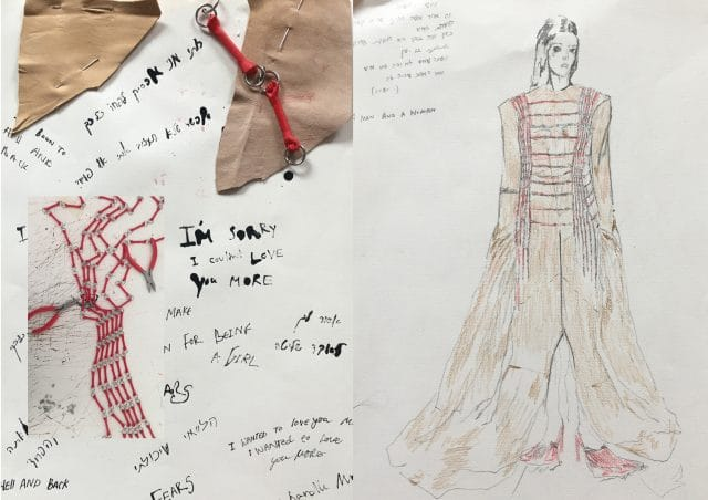 """Antwerp Fashion's Noga Karpel and PrintPlace 3D printed """"the chained hands dress"""" as a symbol of femininity"""